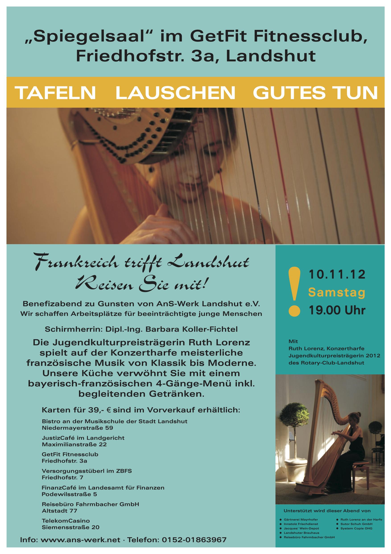 Einladungen Benefizveranstaltungen Answerk Landshut Ev